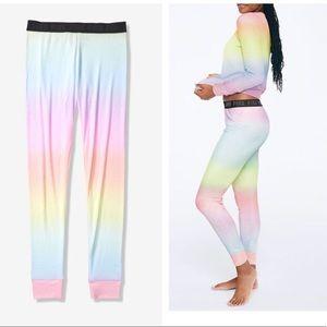 Nwt Vs Pink Sleepwear Pastel Rainbow Lounge Pants